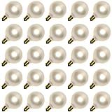 Sival 50721 - G50 Candelabra Screw Base Pearl White (25 pack) Christmas Light Bulbs