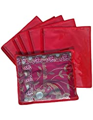 Indi Bargain Set Of 6 Single Saree Covers Single Saree Cover - B00TN50ZYE