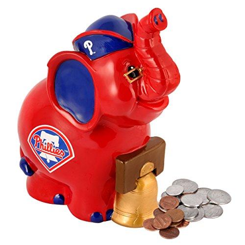 MLB Philadelphia Phillies Thematic Elephant Piggy Bank