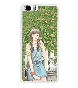 ifasho Girl in park Back Case Cover for Huawei Honor 6