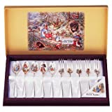 Peter Rabbit Silver Plated Spoon & Fork Set (5 Spoons & 5 Forks)