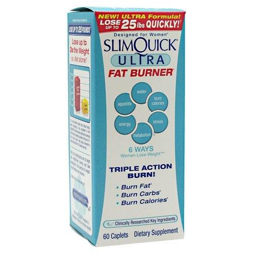 2 Bottles Slimquick Fat Burner Clinical Strength 60 Caplets, Not Capsules