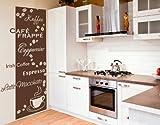 Wandtattoo Kaffeesorten ( Größe: 35cm x 80cm - Farbe: braun ) Motiv-Nr: 2706