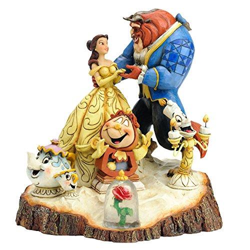 ディズニー トラディション Enesco Disney Traditions Beauty and the Beast 置物 フィギュア 美女と野獣 【並行輸入品】