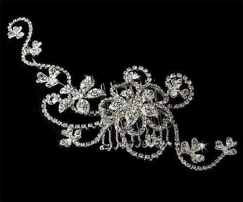 Wedding Bridal Comb with Vintage Crystal Design 265