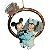 Disney Mickey & Minnie Wedding Ring Ornament