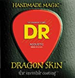 DR Strings DSA-12 Dragon Skin Coated Medium Acoustic Guitar Strings 3-Pack