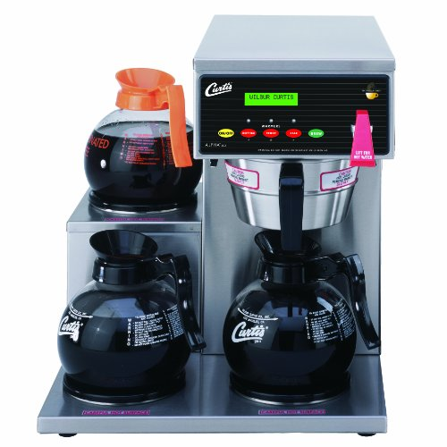 Wilbur Curtis G3 Alpha Decanter Brewer 64 Oz Coffee Brewer, 3 Station, 3 Lower Left Warmers - Commercial Coffee Brewer  - ALP3GTL12A000 (Each)