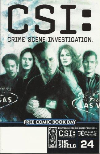 Csi: Crime Scene Investigation Free Comic Book Day Comic Book Includes The Shield, 30 Days Of Night, & 24