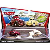 Disney Pixar Cars 2 Die-Cast Uncle Topolino and Mama Topolino 2-Pack 1:55 Scale