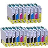 20x Inks - 4x Full Sets of T1295 Plus 4x T1291 Black Compatible Ink Cartridges (with chip) for Epson Stylus Office B42WD BX305F BX305FW BX305FW Plus BX320FW BX525WD BX535WD BX625FWD BX630FW BX635FWD BX925FWD BX935FWD Epson Stylus SX235W SX420W SX425W SX4