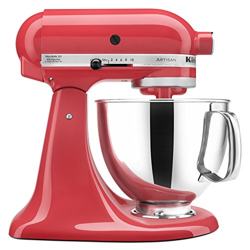 kitchenaid ksm150pswm artisan series 5 qt stand mixer with pouring