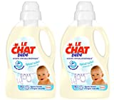 Le Chat B�b� Lessive Liquide Concentr�e Hypoallerg�nique Flacon 1,5 L / 20 Lavages Lot de 2