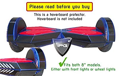 "3D Black Carbon Fiber 8"" Smart Balancing Electric Scooter BODY PROTECTOR Decorative Vinyl Protection Hoverboard Skin Cover Case By IPG ®"