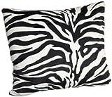 Brentwood Originals 18-Inch Zebra Fur Pillow Black