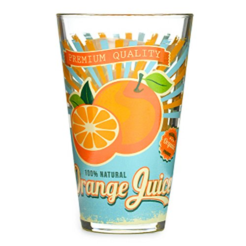 Fruit Juice Glass Printing Cup ,Glass Of Cold Water Orange