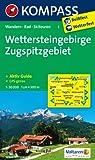 Wettersteingebirge - Zugspitzgebiet: Wanderkarte mit Aktiv Guide, Radwegen und Skitouren. GPS-genau. 1:50000 (KOMPASS-Wanderkarten)