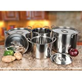 Alpine AI14437 4-Piece Stainless Steel Stock Pots