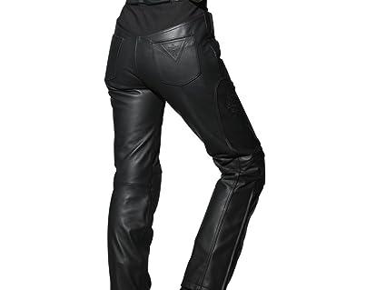 Racer 1258 Salsa Pantalon en cuir pour femme Noir