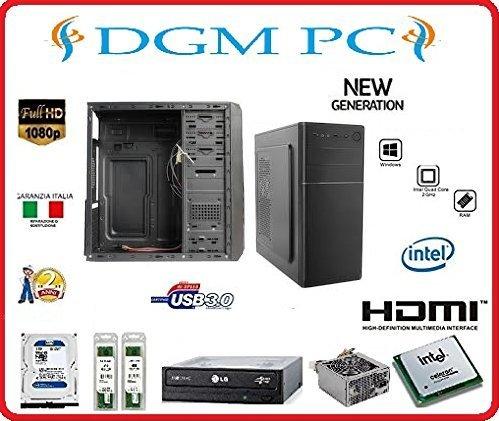 PC DESKTOP ASSEMBLATO COMPLETO COMPUTER FISSO / ALIMENTATORE 500W / INTEL QUAD CORE 2GHZ / RAM 8GB DDR3 / SSD 240GB / DVD-RW / HDMI / USB 3.0 / GT 710 2GB / INSTALLAZIONE SISTEMA OPERATIVO WINDOWS