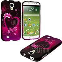 "myLife (TM) Purple + Pink Tropical Love Series (2 Piece Snap On) Hardshell Plates Case for the Samsung Galaxy S4 ""Fits Models: I9500, I9505, SPH-L720, Galaxy S IV, SGH-I337, SCH-I545, SGH-M919, SCH-R970 and Galaxy S4 LTE-A Touch Phone"" (Clip Fitted Front and Back Solid Cover Case + Rubberized Tough Armor Skin + Lifetime Warranty + Sealed Inside myLife Authorized Packaging) ""ADDITIONAL DETAILS: This two piece clip together case has a gloss surface and smooth texture that maximizes the stylish appeal of your Galaxy S4 and brings out the unique colors and designs in the case itself."""