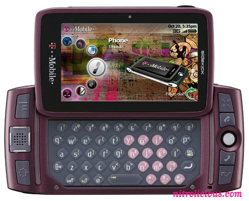 Sidekick SK LX 2009 PV300 Unlocked Phone with 3G, GPS and QWERTY Keyboard - US Warranty - Orchid