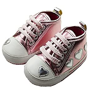 Baby Girls Sport Casual Shoes With Heart Shape Design First Walker Sneakers For Kids