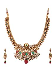 1 Gram Gold Plated Traditional Necklace Set