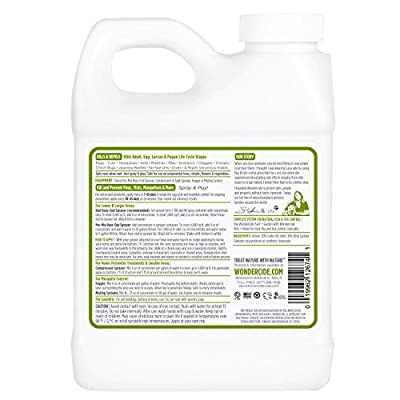 Natural Flea and Tick Yard Spray | Kill, Control, & Prevent Fleas, Ticks, Mosquitoes & Other Insects, Apply with Hose End Sprayer | 16oz, 32oz & 1 Gallon Organic Concentrate, Safe Around Kids, Pets, & Plants