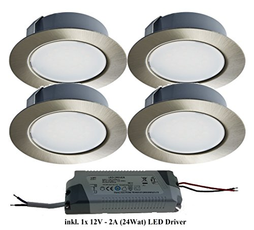 trango-set-of-4-tgg4e-04xt-led-recessed-spotlight-includes-1x-led-transformer-12-v-2000-mah-to-repla