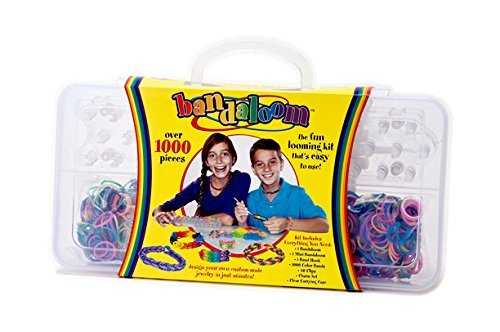 Bandaloom Rubber Band Kit - Create Wearable Accessories, Loop Together Colorful Bands and Make Whatever You Choose, This Bracelet Making Kit Is Used to Make Popular Rubber Band Bracelets, Loom Kit, 1000+ Colorful Rubber Bands, 40 Clips, 1 Band Hook