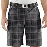 Under Armour HeatGear Forged Plaid Golf Short in Black/Graphite 34