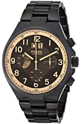 Fossil Men's CH2910 Qualifier Chronograph Black Stainless Steel Bracelet Watch