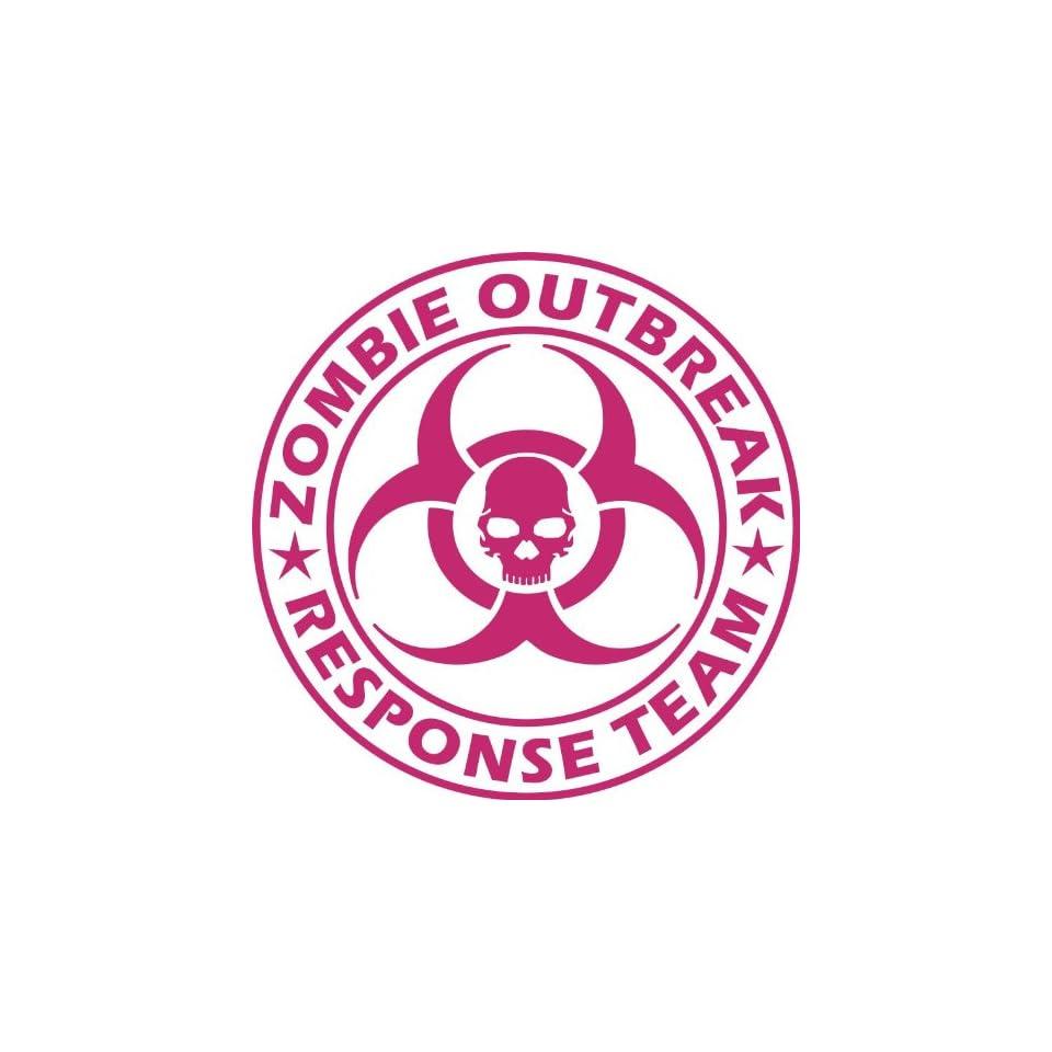 Zombie Outbreak Response Team NEW DESIGN Die Cut Vinyl Decal Sticker 5 Pink