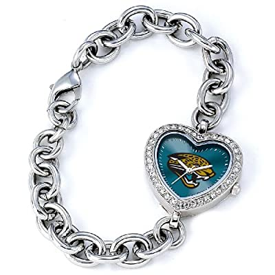 NFL Women's FH-JAC Heart Collection Jacksonville Jaguars Watch