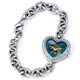 NFL Women's FH-JAC Heart Collection Jacksonville Jaguars Watch at Amazon.com