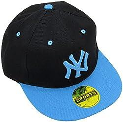 Masti Station Hip Hop Snapback NY Cap (Black and Blue)