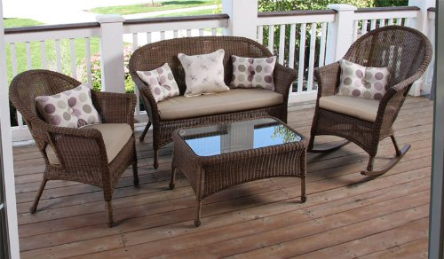 NorthCape International – Naples Wicker Patio Furniture Set – NC280