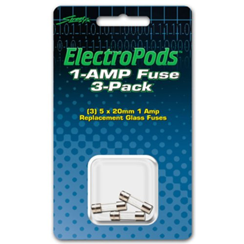 Street FX 1044700 ElectroPods Silver Replacement Fuse, (Pack of 3)