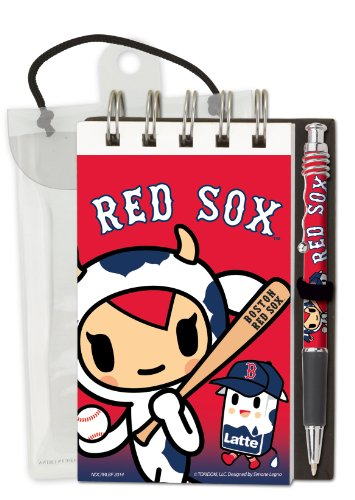 "National Design TokiDoki Boston Red Sox Deluxe Hardcover with 3 x 5"" Flipbook and Pen Set - 1"