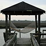 Pawleys Island DuraCord Rope Hammock, Extra Large, Oatmeal (Available in Multiple Colors and Sizes), Includes a Custom Storage Bag and Heavy Duty Screw-In Hooks for Easy Attachment To Trees, Pergola, Gazebo, etc., Fits Two People Comfortably, Hand Made In the U.S.A.