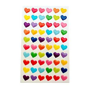 Color heart small gel sticker 2 sheets for Amazon gelbsticker