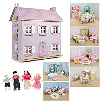 Le Toy Van : Sophie's House Dolls House with Furniture (6 sets of Daisylane Furniture plus My Family)