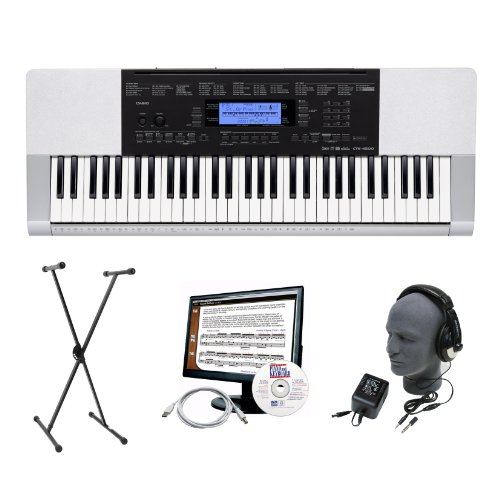 Casio CTK-4200 Premium Keyboard Package with Headphones, Stand, Power Supply, 6-Feet USB Cable and eMedia Instructional Software