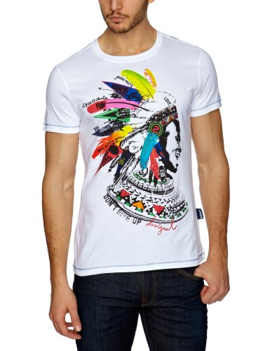 Desigual TS_Apache Printed Men's T-Shirt Blanco Large