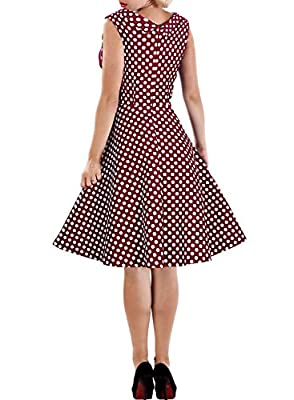Miusol® Women's Cut Out V-Neck Vintage Casual Polka Dot 1950'S Retro Dress