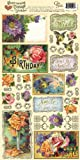 "Heartwarming Vintage Cardstock Stickers 6""X12""Sheet-Greetings & Sentiments"