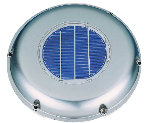 Solatron Stainless Steel Solar Vent/Fan with Rechargeable Battery for Boat, RV, Greenhouse, and More (Vent Greenhouse compare prices)