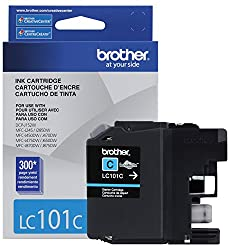 Brother Printer LC101C Cyan Ink Cartridge