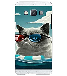 SAMSUNG GALAXY A5 DUDE CAT Back Cover by PRINTSWAG